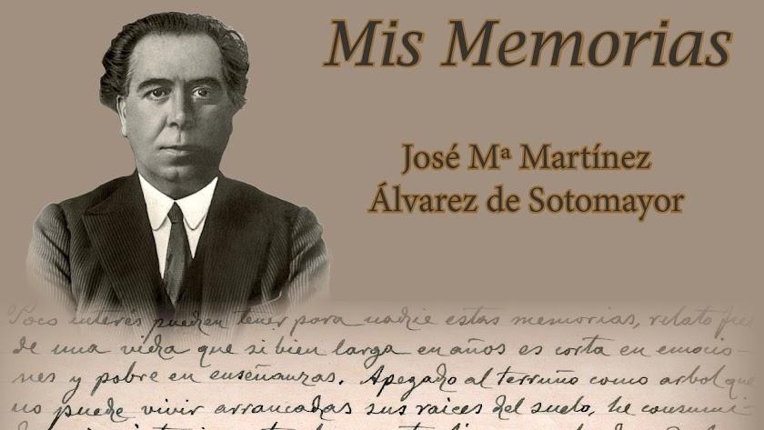 Portada del libro de Memorias de Sotomayor que se presenta mañana en Cuevas.