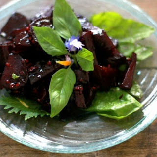Honey Ginger Balsamic Glazed Beets