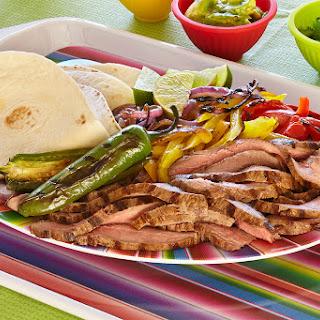 Grilled Tequila Lime Steak Fajitas Recipe