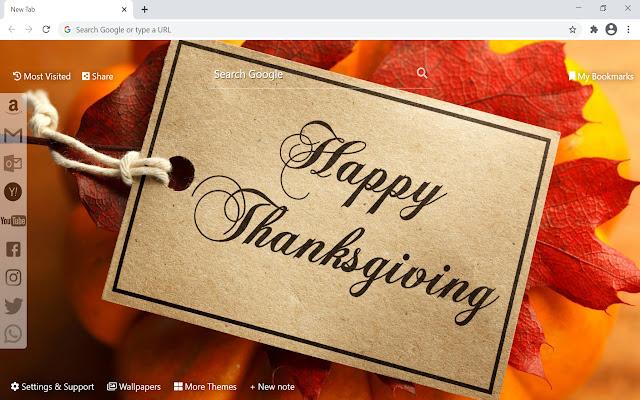 Thanksgiving Wallpaper HD New Tab