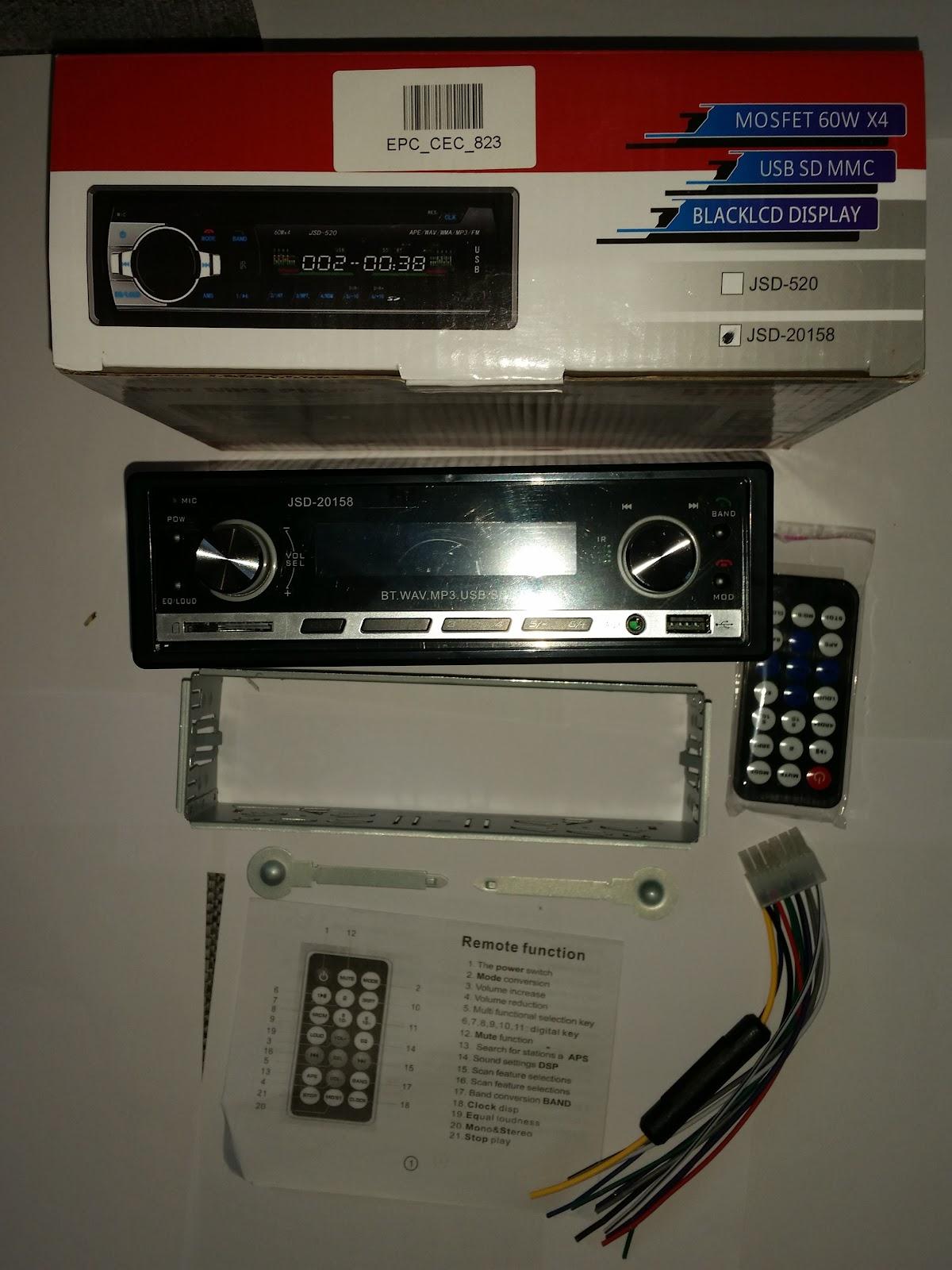 Autoradio Bluetooth Encastré Multifonctions Lecteur MP3 Radio FM entrée Aux Port SD & USB Kit Mains Libres www.avalonkef.com shgh.jpg