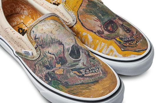 Vans Classics with a print of Van Gogh s painting Skull a2d21a250