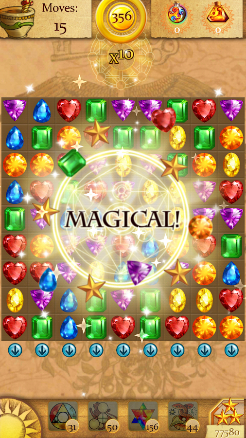 Clash of Diamonds - Match 3 Jewel Games- screenshot
