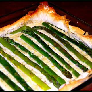 Creamy Asparagus and Potato Tart.
