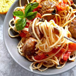 Abruzzese Italian Meatballs and Spaghetti