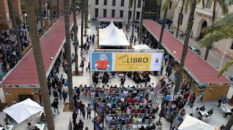 La Plaza de la Catedral, en la última edición de la Feria del Libro de Almería.