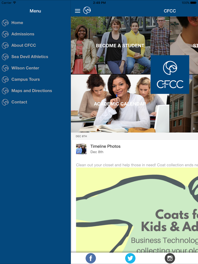 Cape Fear Community College- screenshot