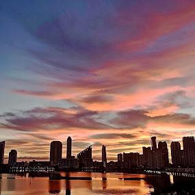 Sunrise on Williams Island, FL by Neil Dern - Landscapes Sunsets & Sunrises ( sunrise, waterscape, landscape, morning )