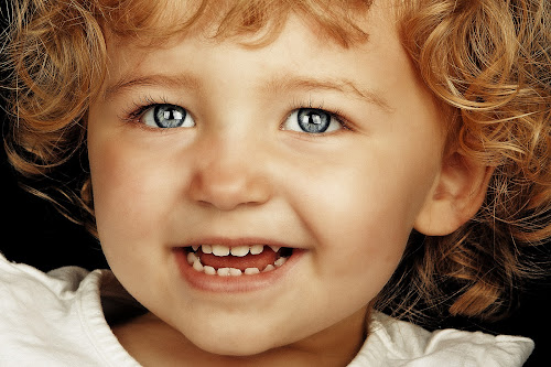 Smile for the camera! by Joseph Humphries - Babies & Children Child Portraits ( child, blueeyes, pwcoins, cutey, blondehair, portrait )