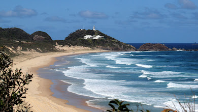 Photo: Lighthouse Beach looking towards Sugarloaf Point, Seal Rocks