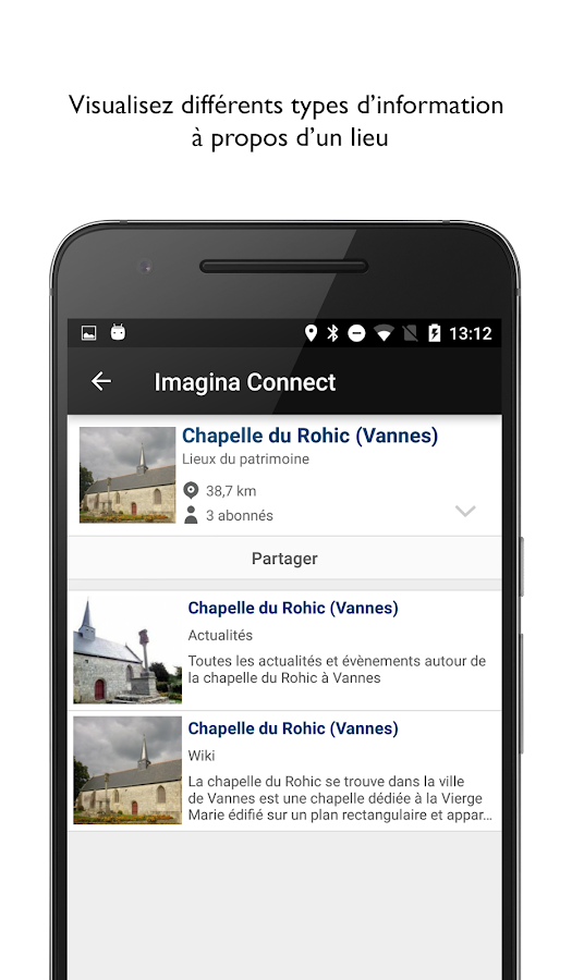 Imagina Connect – Capture d'écran