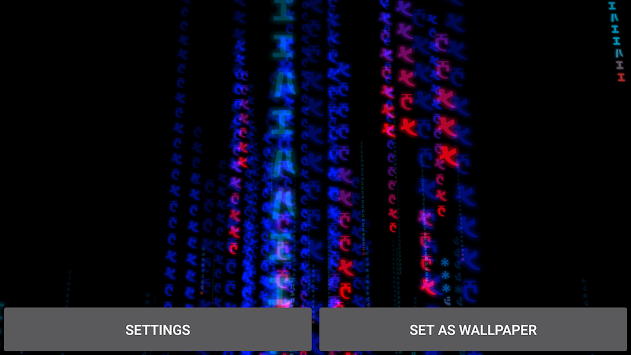 3D Matrix Rain Live Wallpaper Poster