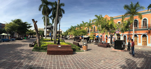 Mazatlan-plaza-panorama - Panorama of the main plaza in Old Mazatlan, shot with an iPhone 5.