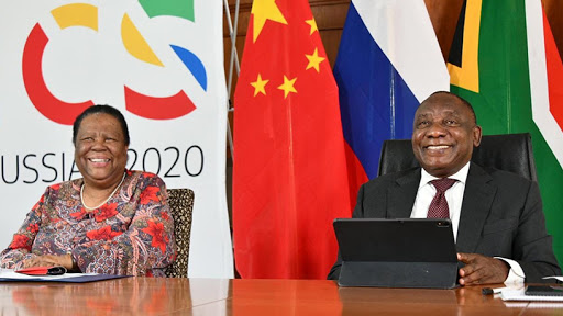 International relations and cooperation minister Dr Naledi Pandor and president Cyril Ramaphosa.