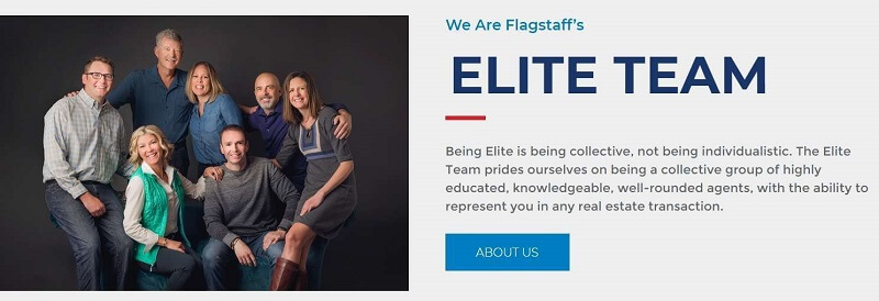 Picture of real estate agency owner & family on elite realty website