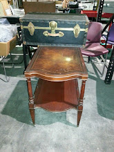 Photo: Antique Side Table $95 Vintage Trunk - $35