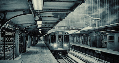 Photo: Chicago train in the dead of winter. #chicago #snowstorm