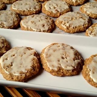 Iced Oatmeal Pecan Cookies