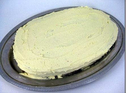 frosting  on base of cake