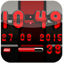 Digi Clock Black Red widget icon