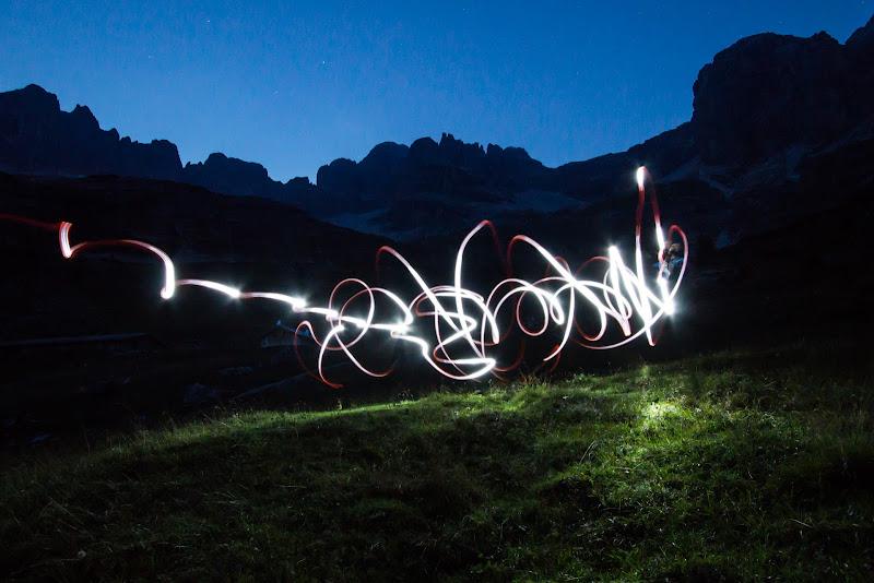 light painting sulle dolomiti  di 79cris
