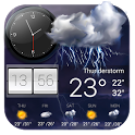 Weather Forecast with Analog Clock icon