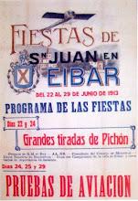 """Photo: Programa de las fiestas de San Juan de 1913. Aprovechando las fiestas de San Juan """"Esperanza y Unceta"""" realizó el traslado de a sus nuevas instalaciones de Gernika."""