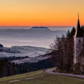 Lonely morning by Peter Zajfrid - Landscapes Sunsets & Sunrises ( sky, sunset, sunrise, morning )
