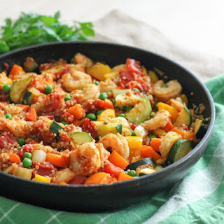 Shrimp and Quinoa Paella.