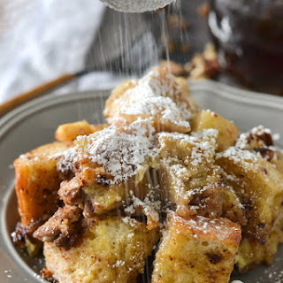 Crock-Pot® Slow Cooker Apple Cinnamon French Toast Casserole.