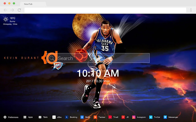 Kevin Durant HD Wallpapers Basketball New Tab