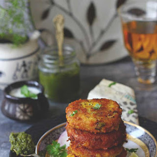Corn and Paneer Tikki