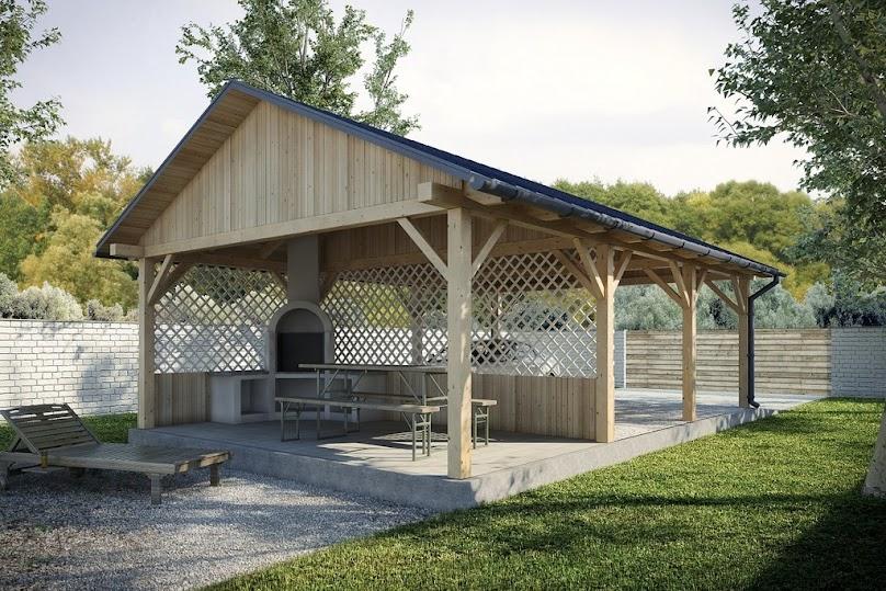 Budowa wiaty garażowej z drewna