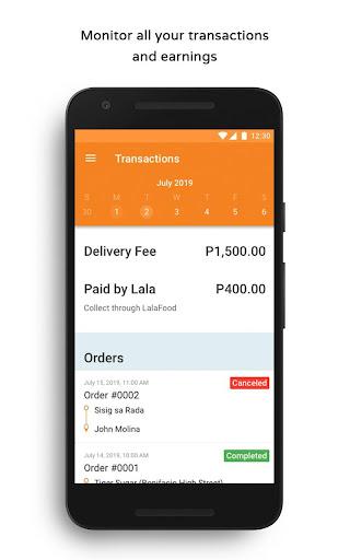 LalaFood Partners - Driver screenshots 4