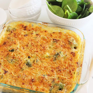 Skinny Baked Broccoli Macaroni and Cheese.