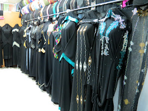 Photo: Muscat - Mutrah souq, 'abaya' selling shop