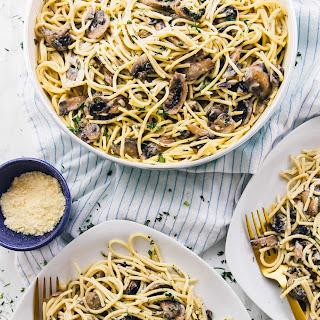 Creamy Garlic Mushroom Pasta (Vegan + GF).