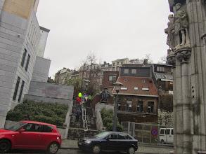 Photo: het trappenwerk begint