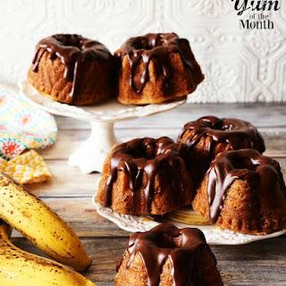 Mini Banana Bundt Cakes.