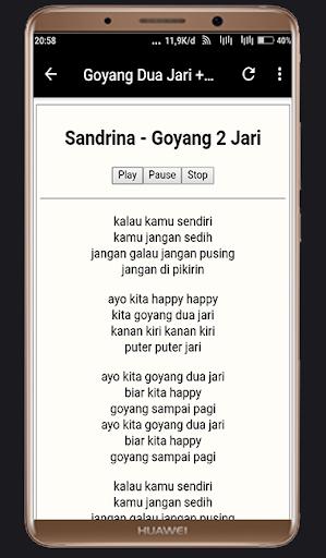 Lagu Sandrina Azzahra - Goyang Dua Jari  ( Lirik) 1.0 screenshots 1