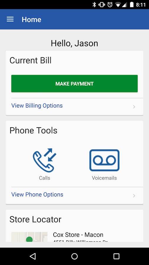 Cox Mobile Connect- screenshot
