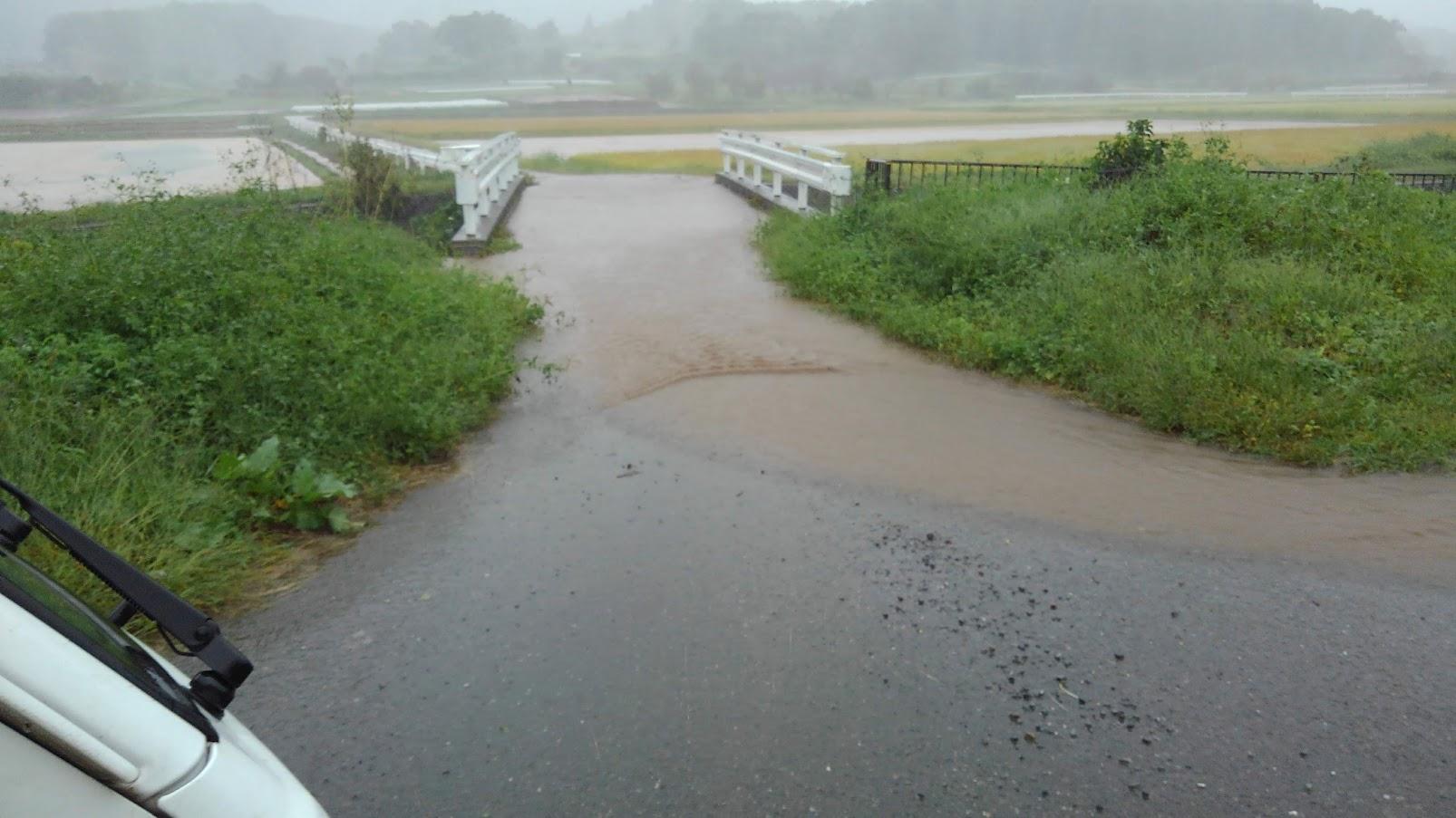 上流域の市ノ川は下流の東松山市で氾濫