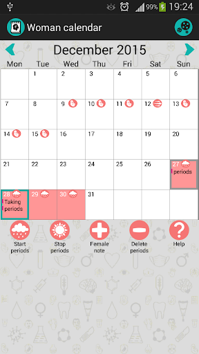 Woman Calendar: Period Tracker