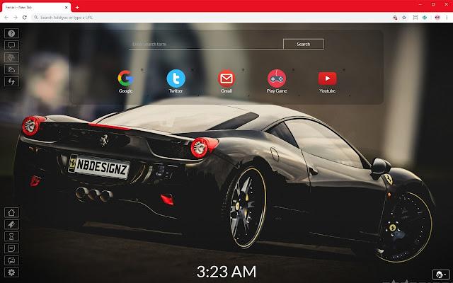 Ferrari Super Car New Tab Theme