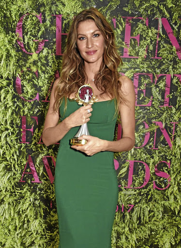 Gisele Bündchen received a Green Carpet Fashion Eco Laureate Award for using her status to promote environmental causes and solutions.