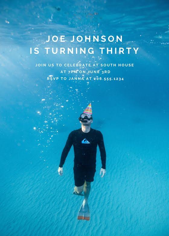Joe's 30th Birthday - Birthday Card Template