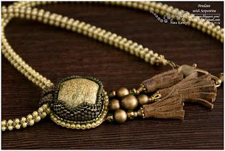 Photo: Pendant with Serpentine - Прикраса з серпентином або змійовиком