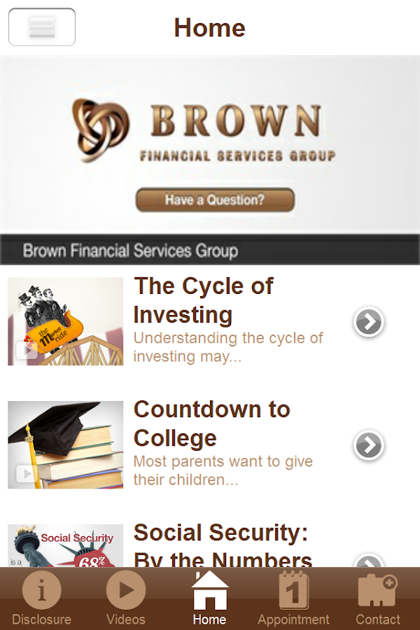 Brown Financial Services Group- screenshot