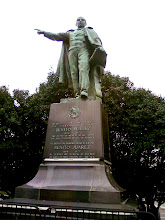 Photo: On the way you walk by this monument to Mexico's Benito Juarez. Why a statue to Mexico's Benito Juarez in Washington D.C.? I have no idea.