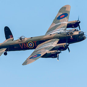 Lancaster by David Feuerhelm - Transportation Airplanes ( historic, vintage, aircraft, avro lancaster )